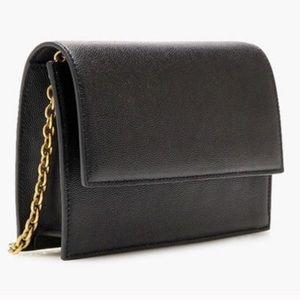 JCrew ladylike clutch with gold chain link strap